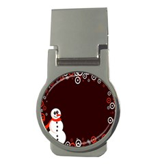 Snowman Holidays, Occasions, Christmas Money Clips (round)