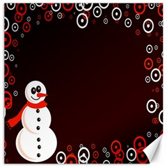 Snowman Holidays, Occasions, Christmas Canvas 12  X 12   by Nexatart