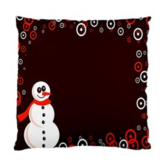 Snowman Holidays, Occasions, Christmas Standard Cushion Case (one Side)