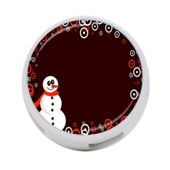 Snowman Holidays, Occasions, Christmas 4 Port Usb Hub (one Side) by Nexatart