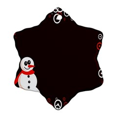 Snowman Holidays, Occasions, Christmas Snowflake Ornament (two Sides)