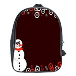 Snowman Holidays, Occasions, Christmas School Bags (XL)  Front