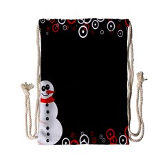 Snowman Holidays, Occasions, Christmas Drawstring Bag (small)