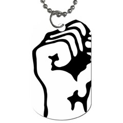 Skeleton Right Hand Fist Raised Fist Clip Art Hand 00wekk Clipart Dog Tag (one Side) by Foxymomma