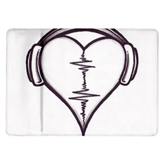 Audio Heart Tattoo Design By Pointofyou Heart Tattoo Designs Home R6jk1a Clipart Samsung Galaxy Tab 10 1  P7500 Flip Case by Foxymomma