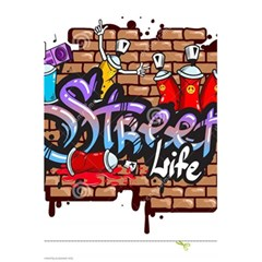 Graffiti Word Characters Composition Decorative Urban World Youth Street Life Art Spraycan Drippy Bl 5 5  X 8 5  Notebooks by Foxymomma