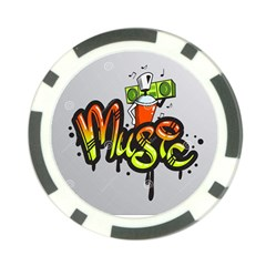 Graffiti Word Character Print Spray Can Element Player Music Notes Drippy Font Text Sample Grunge Ve Poker Chip Card Guard by Foxymomma