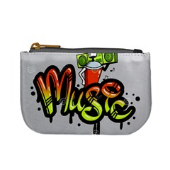 Graffiti Word Character Print Spray Can Element Player Music Notes Drippy Font Text Sample Grunge Ve Mini Coin Purses by Foxymomma
