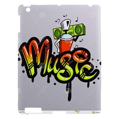 Graffiti Word Character Print Spray Can Element Player Music Notes Drippy Font Text Sample Grunge Ve Apple Ipad 3/4 Hardshell Case by Foxymomma