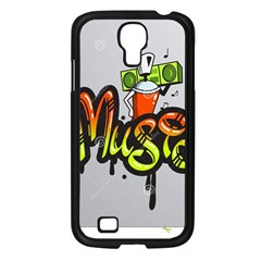 Graffiti Word Character Print Spray Can Element Player Music Notes Drippy Font Text Sample Grunge Ve Samsung Galaxy S4 I9500/ I9505 Case (black)