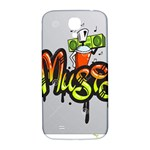 Graffiti Word Character Print Spray Can Element Player Music Notes Drippy Font Text Sample Grunge Ve Samsung Galaxy S4 I9500/I9505  Hardshell Back Case Front