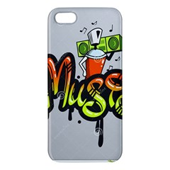 Graffiti Word Character Print Spray Can Element Player Music Notes Drippy Font Text Sample Grunge Ve Iphone 5s/ Se Premium Hardshell Case by Foxymomma