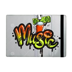 Graffiti Word Character Print Spray Can Element Player Music Notes Drippy Font Text Sample Grunge Ve Ipad Mini 2 Flip Cases by Foxymomma