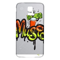 Graffiti Word Character Print Spray Can Element Player Music Notes Drippy Font Text Sample Grunge Ve Samsung Galaxy S5 Back Case (white) by Foxymomma