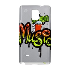 Graffiti Word Character Print Spray Can Element Player Music Notes Drippy Font Text Sample Grunge Ve Samsung Galaxy Note 4 Hardshell Case by Foxymomma