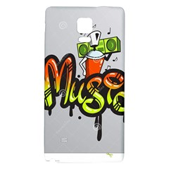 Graffiti Word Character Print Spray Can Element Player Music Notes Drippy Font Text Sample Grunge Ve Galaxy Note 4 Back Case