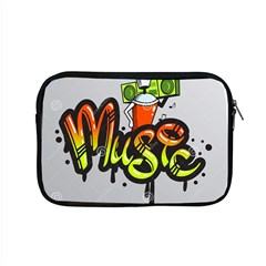 Graffiti Word Character Print Spray Can Element Player Music Notes Drippy Font Text Sample Grunge Ve Apple Macbook Pro 15  Zipper Case by Foxymomma