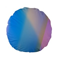 Twist Blue Pink Mauve Background Standard 15  Premium Round Cushions