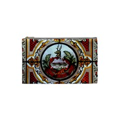 Stained Glass Skylight In The Cedar Creek Room In The Vermont State House Cosmetic Bag (small)  by Nexatart