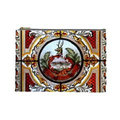 Stained Glass Skylight In The Cedar Creek Room In The Vermont State House Cosmetic Bag (large)  by Nexatart