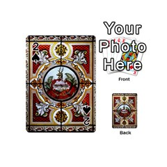 Stained Glass Skylight In The Cedar Creek Room In The Vermont State House Playing Cards 54 (mini)  by Nexatart