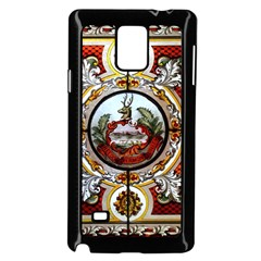 Stained Glass Skylight In The Cedar Creek Room In The Vermont State House Samsung Galaxy Note 4 Case (black)