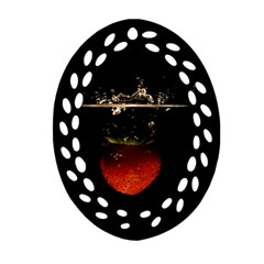 Strawberry Ornament (oval Filigree) by Nexatart