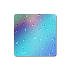 Water Droplets Square Magnet