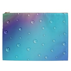 Water Droplets Cosmetic Bag (xxl)