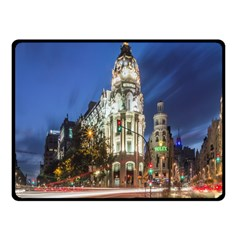 Architecture Building Exterior Buildings City Fleece Blanket (small)
