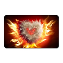 Arts Fire Valentines Day Heart Love Flames Heart Magnet (rectangular)