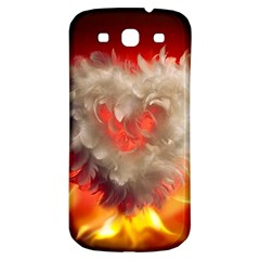 Arts Fire Valentines Day Heart Love Flames Heart Samsung Galaxy S3 S Iii Classic Hardshell Back Case by Nexatart