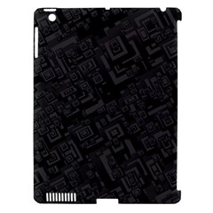 Black Rectangle Wallpaper Grey Apple Ipad 3/4 Hardshell Case (compatible With Smart Cover)
