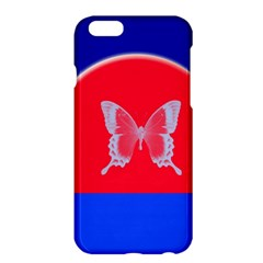 Blue Background Butterflies Frame Apple Iphone 6 Plus/6s Plus Hardshell Case by Nexatart