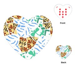 Broken Tile Texture Background Playing Cards (heart)  by Nexatart
