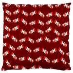 Christmas Crackers Large Flano Cushion Case (Two Sides) Back