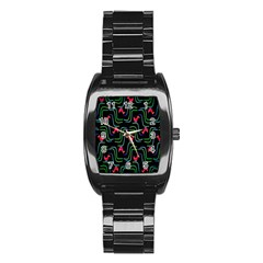 Computer Graphics Webmaster Novelty Pattern Stainless Steel Barrel Watch by Nexatart