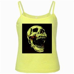 Death Skull Yellow Spaghetti Tank