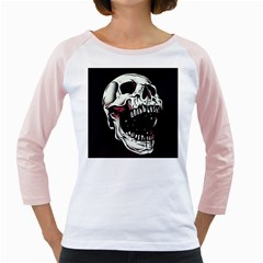 Death Skull Girly Raglans