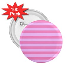 Fabric Baby Pink Shades Pale 2 25  Buttons (100 Pack)  by Nexatart