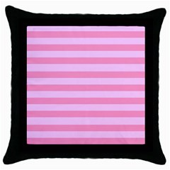 Fabric Baby Pink Shades Pale Throw Pillow Case (black) by Nexatart