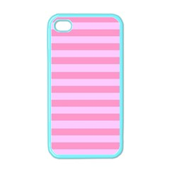 Fabric Baby Pink Shades Pale Apple Iphone 4 Case (color) by Nexatart