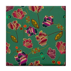 Flowers Pattern Face Towel by Nexatart