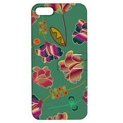Flowers Pattern Apple Iphone 5 Hardshell Case With Stand by Nexatart