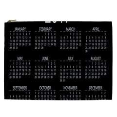 Full 2017 Calendar Vector Cosmetic Bag (xxl)