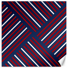 Geometric Background Stripes Red White Canvas 20  X 20   by Nexatart