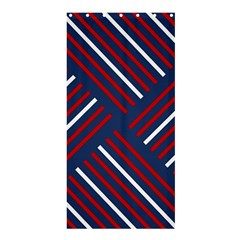 Geometric Background Stripes Red White Shower Curtain 36  X 72  (stall)  by Nexatart