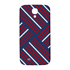 Geometric Background Stripes Red White Samsung Galaxy S4 I9500/i9505  Hardshell Back Case