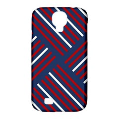 Geometric Background Stripes Red White Samsung Galaxy S4 Classic Hardshell Case (pc+silicone)