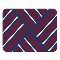 Geometric Background Stripes Red White Double Sided Flano Blanket (large)  by Nexatart